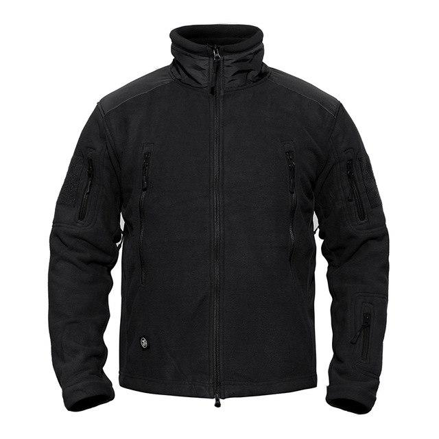 Tactical Fleece Jacket For Men Army Military Style Warm Clothing Multi Pocket Fleece Jacket Outer Layer - 4 Colors