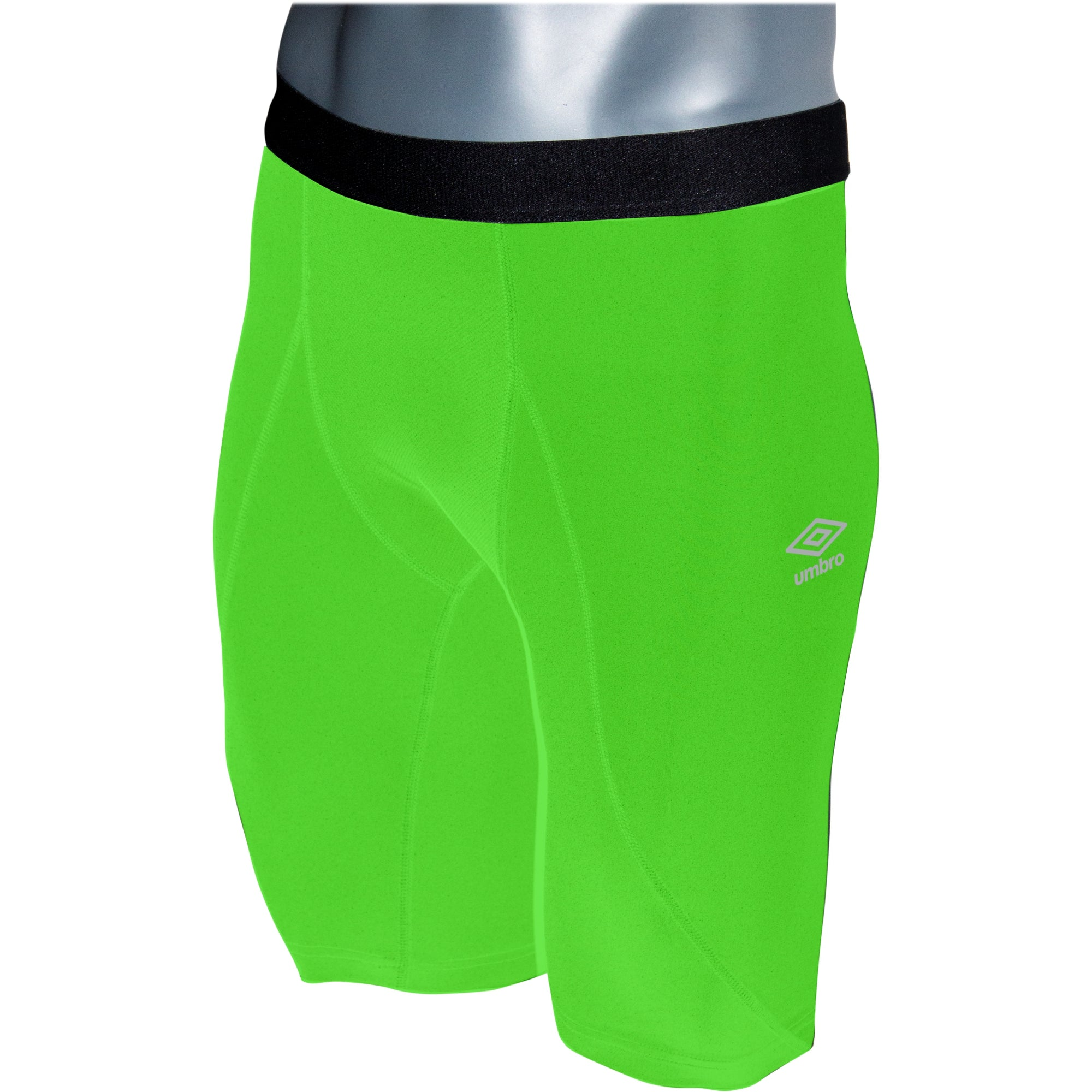 Umbro Elite Player Power Short in green gecko with black waist band
