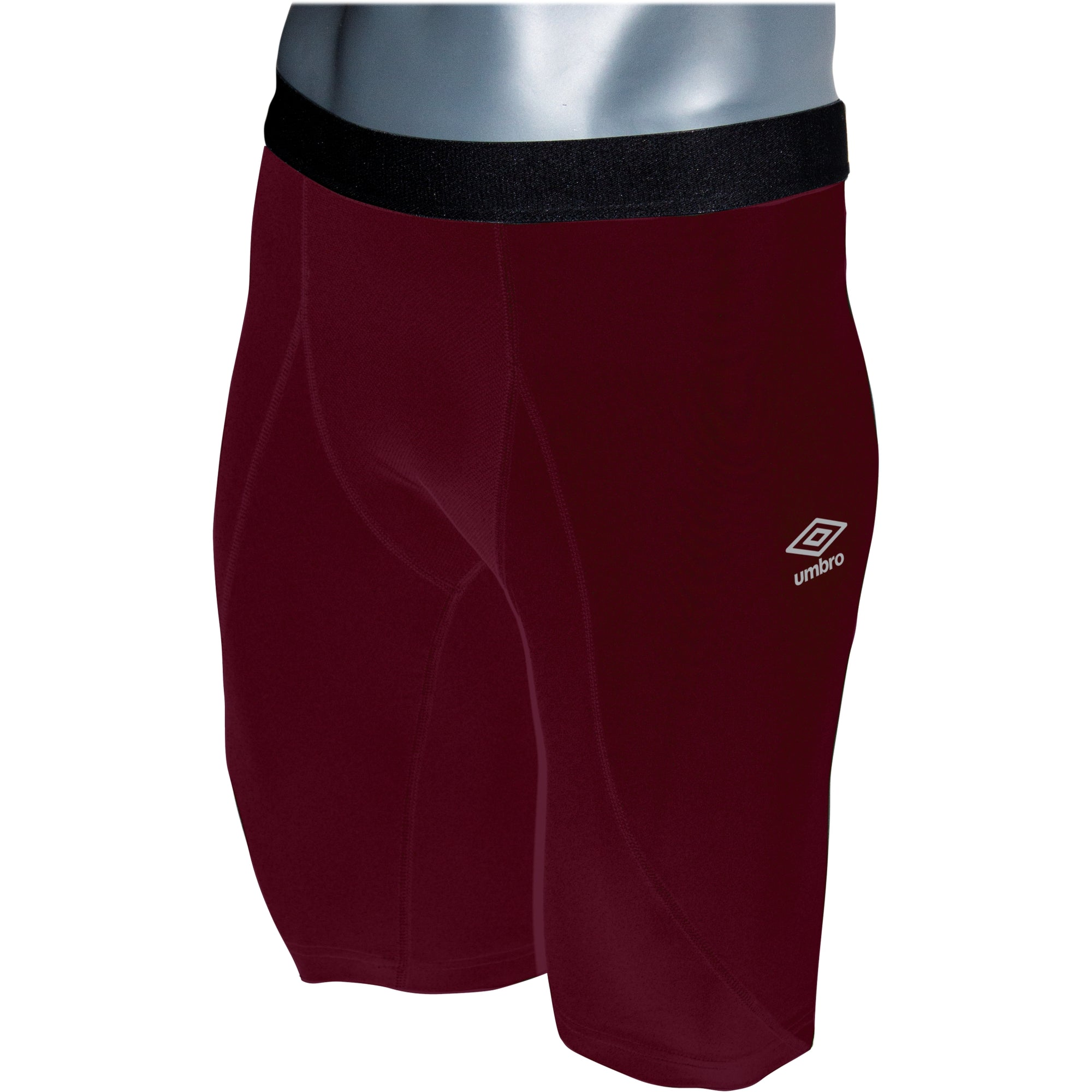 Umbro Elite Player Power Short in new claret with black waist band