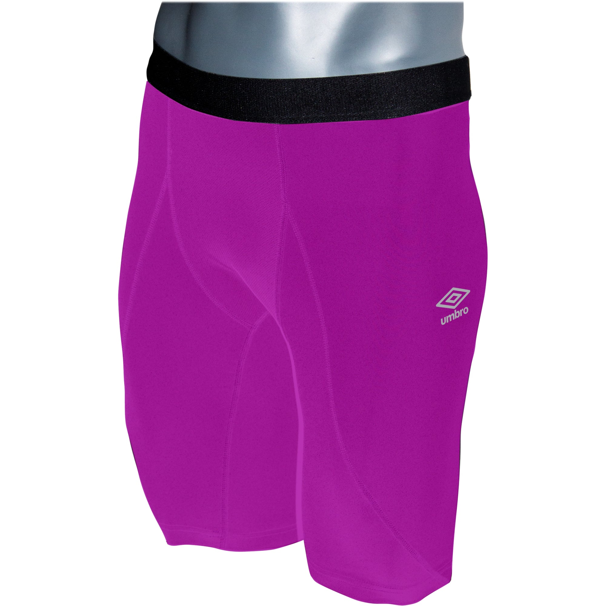 Umbro Elite Player Power Short in purple cactus with black waist band