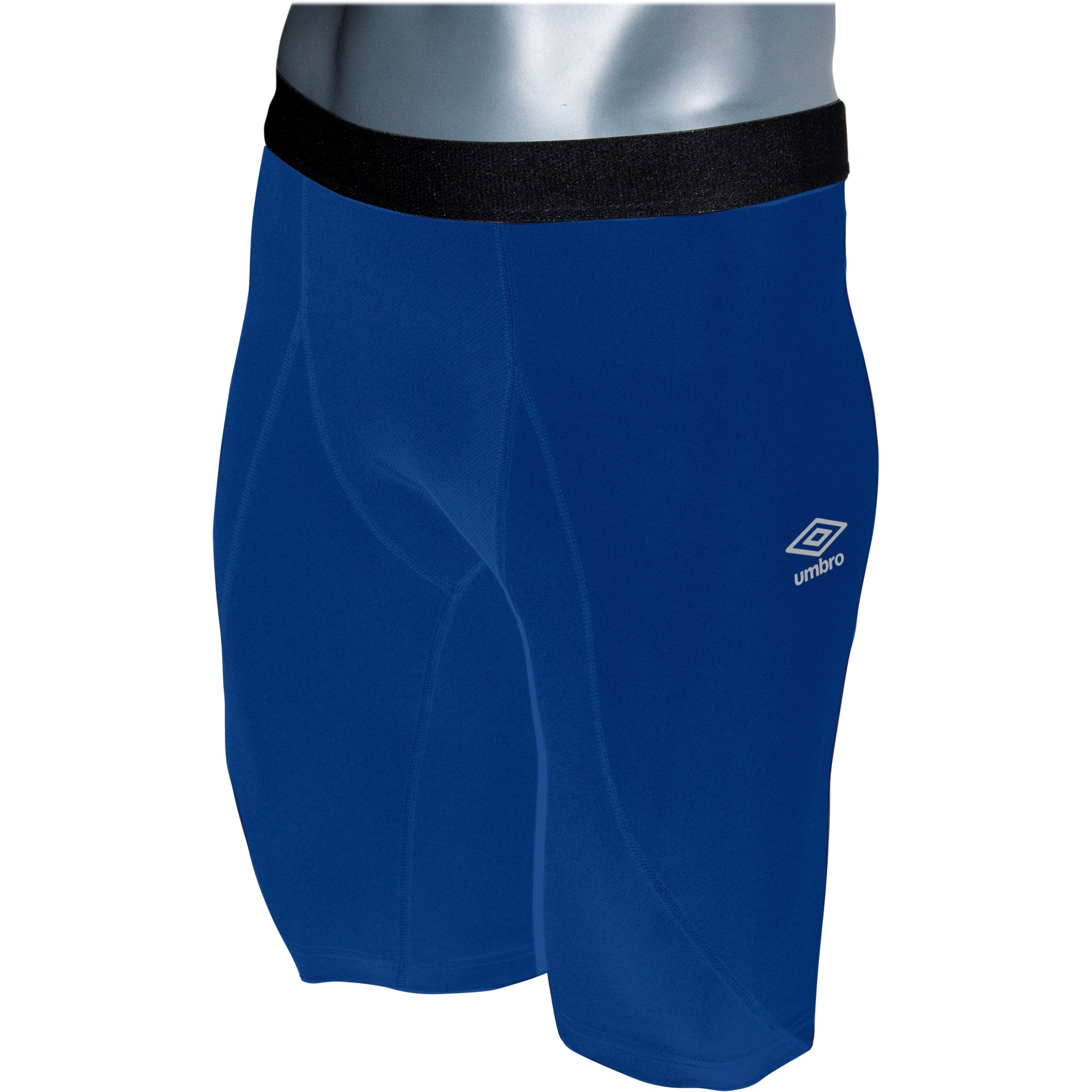 Umbro Elite Player Power Short in royal blue with black waist band
