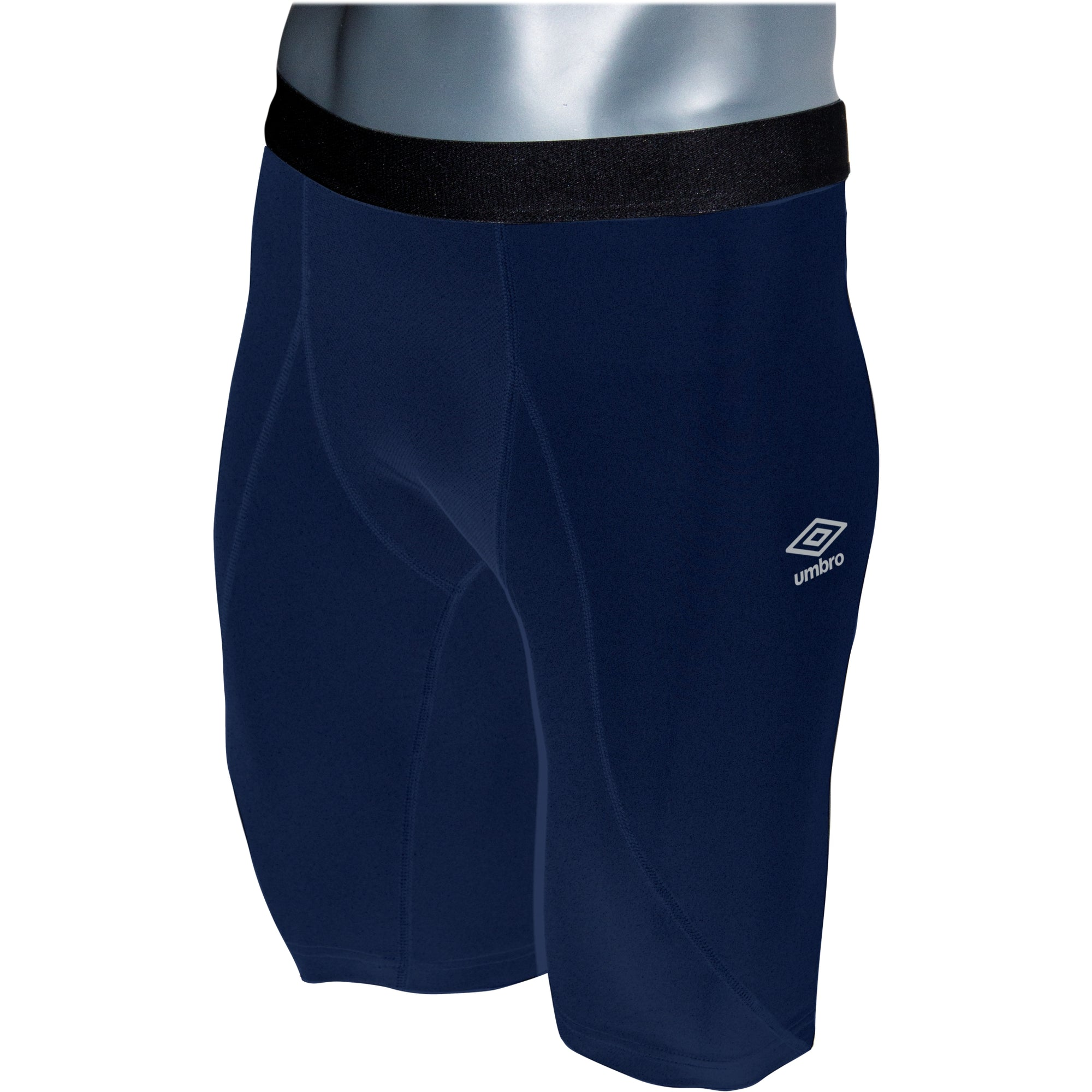 Umbro Elite Player Power Short in navy with black waist band