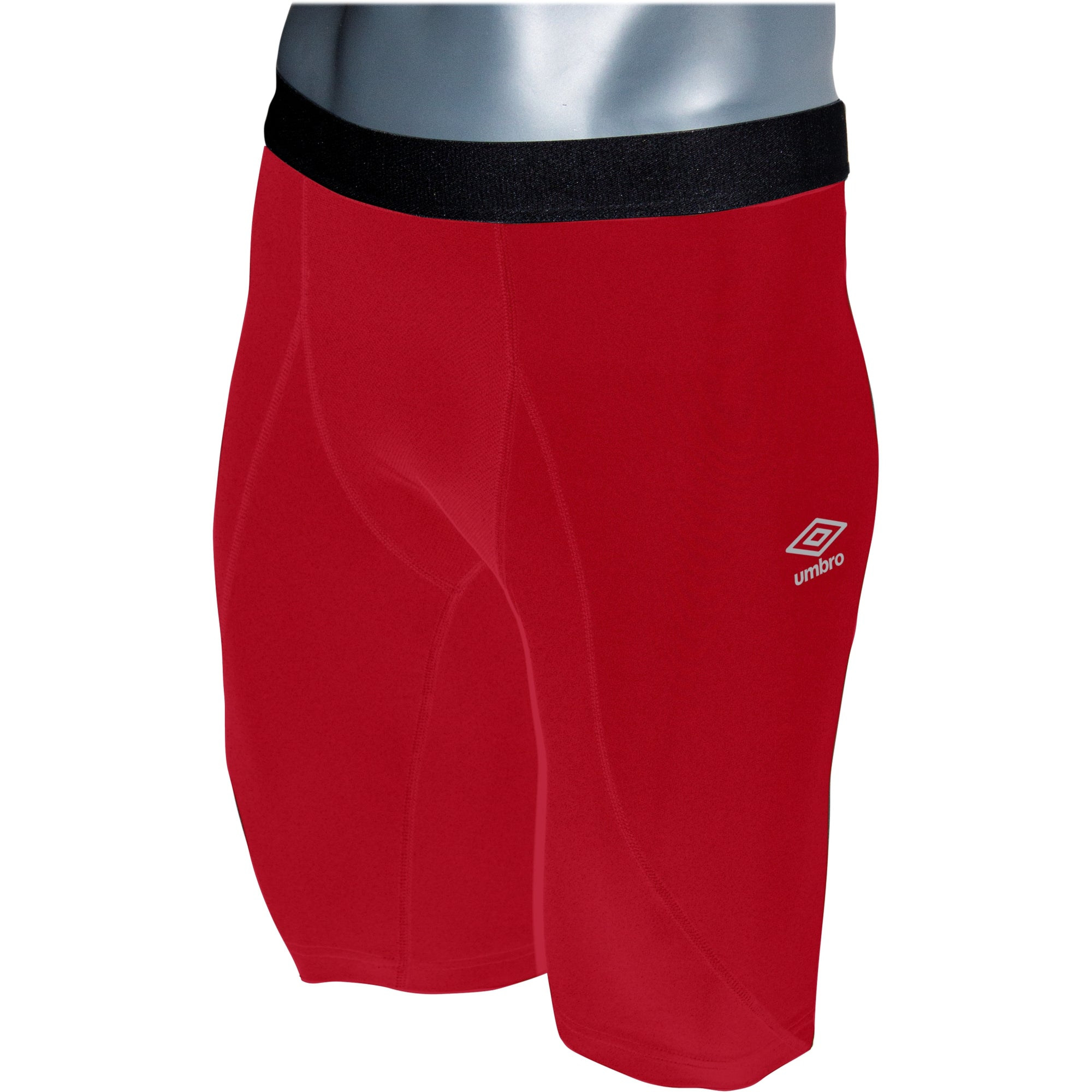 Umbro Elite Player Power Short in vermillion (red) with black waist band