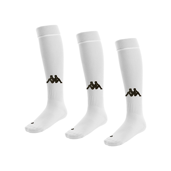 Kappa Penao white socks with black Omini knitted into the shin