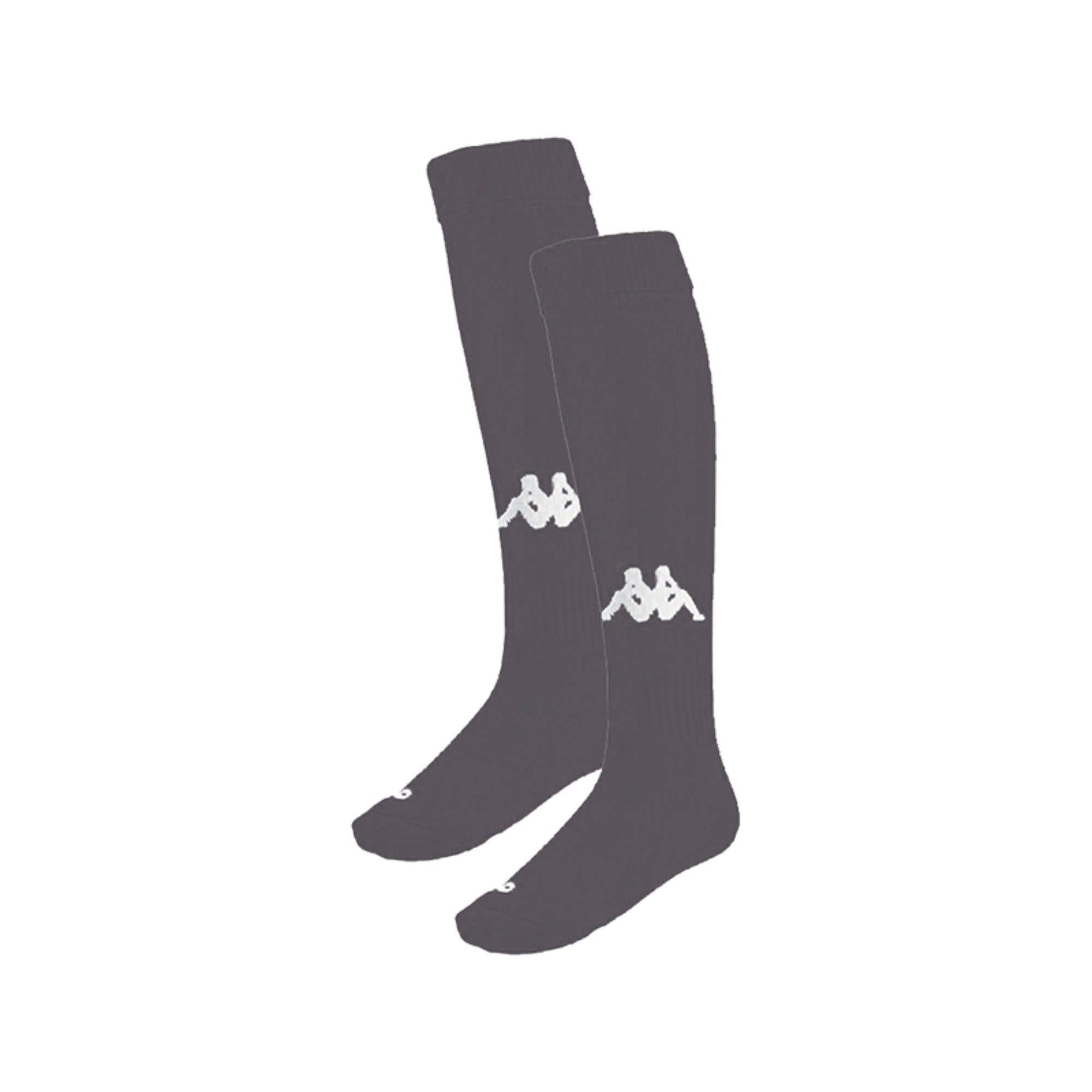 Kappa Penao socks in smoke (grey) with knitted white Omini in the front shin area