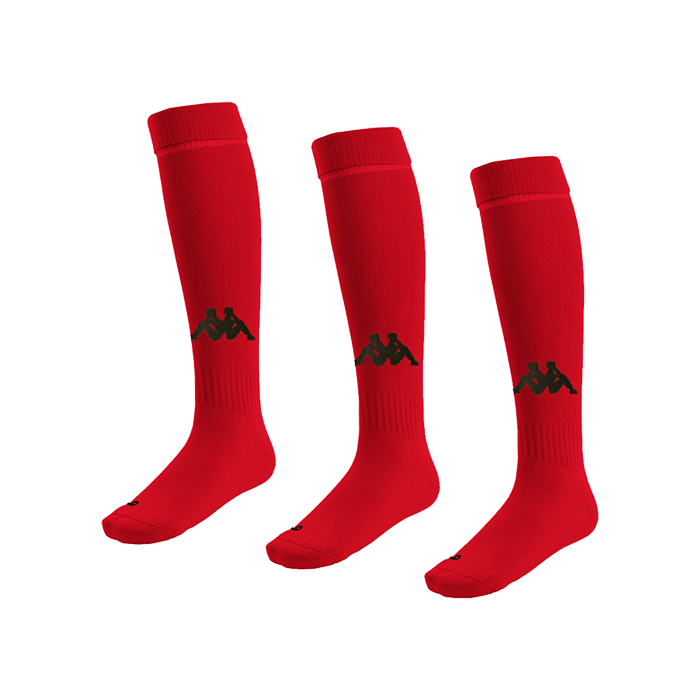 Kappa Penao high match sock in red with black knitted Omini on the shin