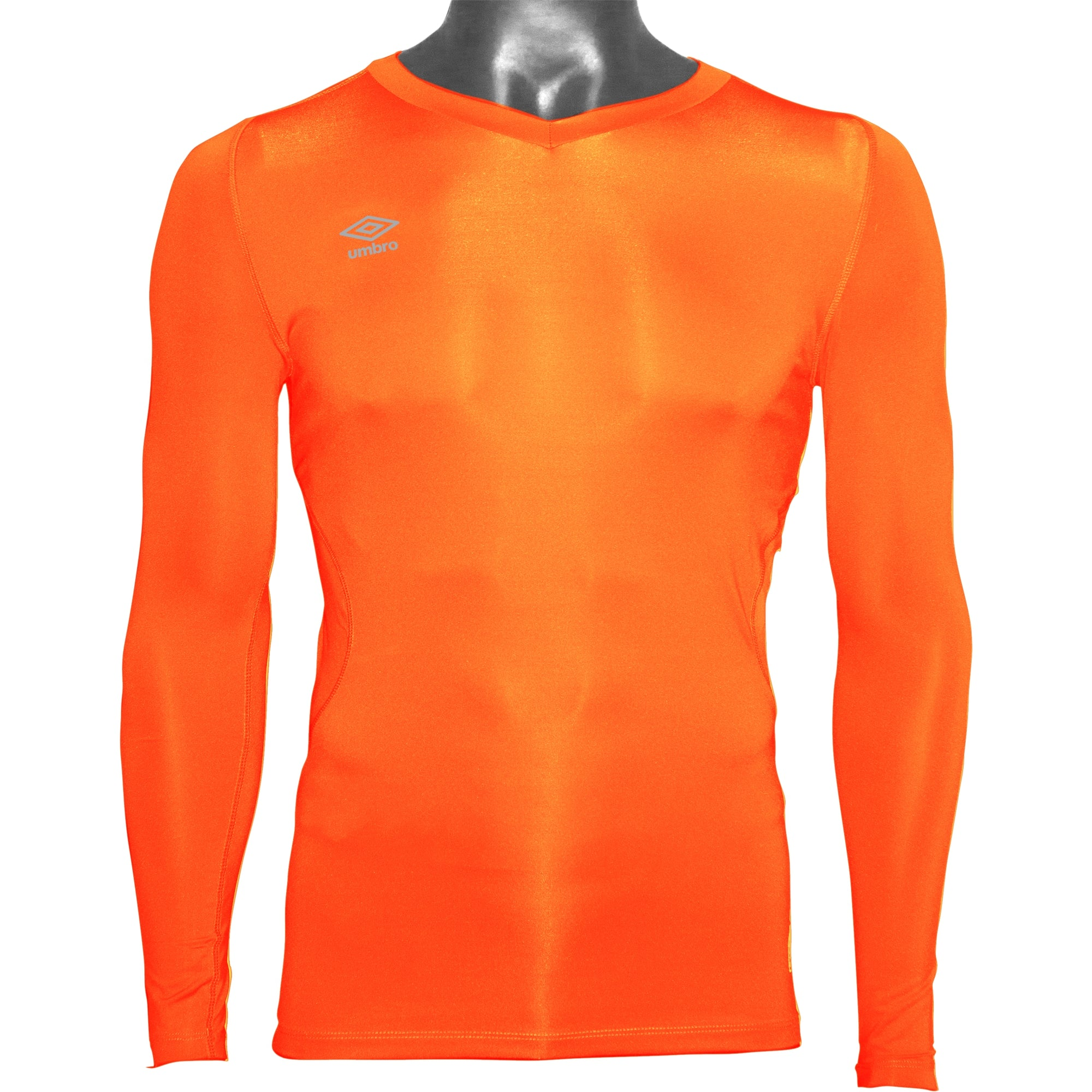 Umbro Elite V Neck Baselayer - Shocking Orange