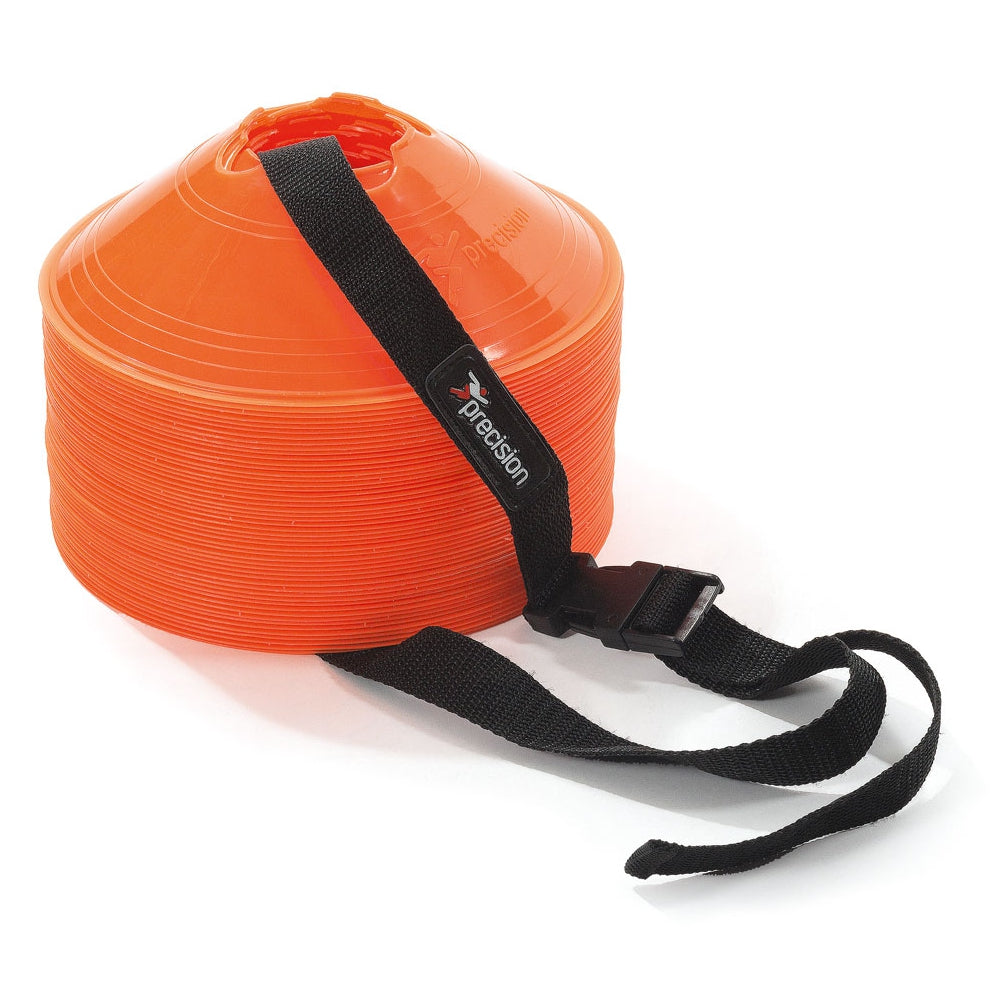 Precision Disc Cones Strap secured around orange set of cones