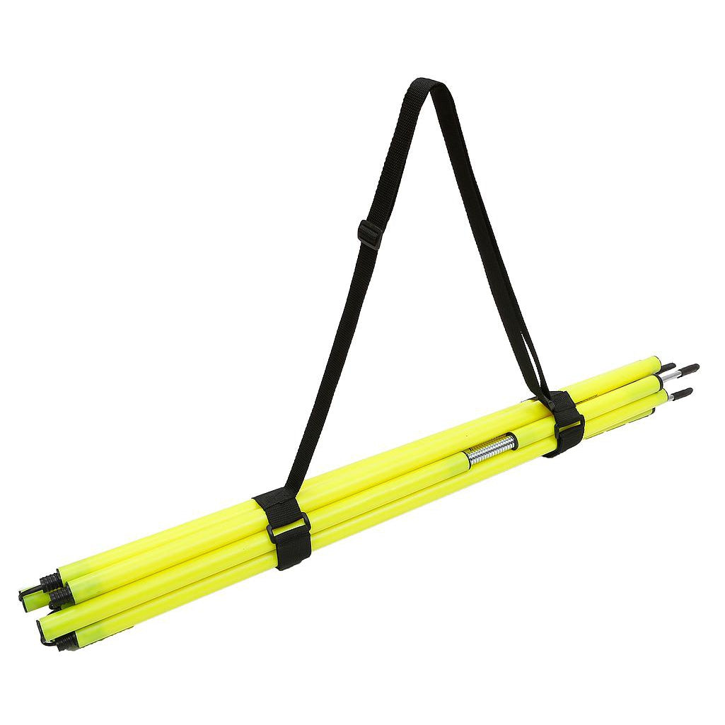 Precision Training Boundary Pole Carry Strap holding yellow poles