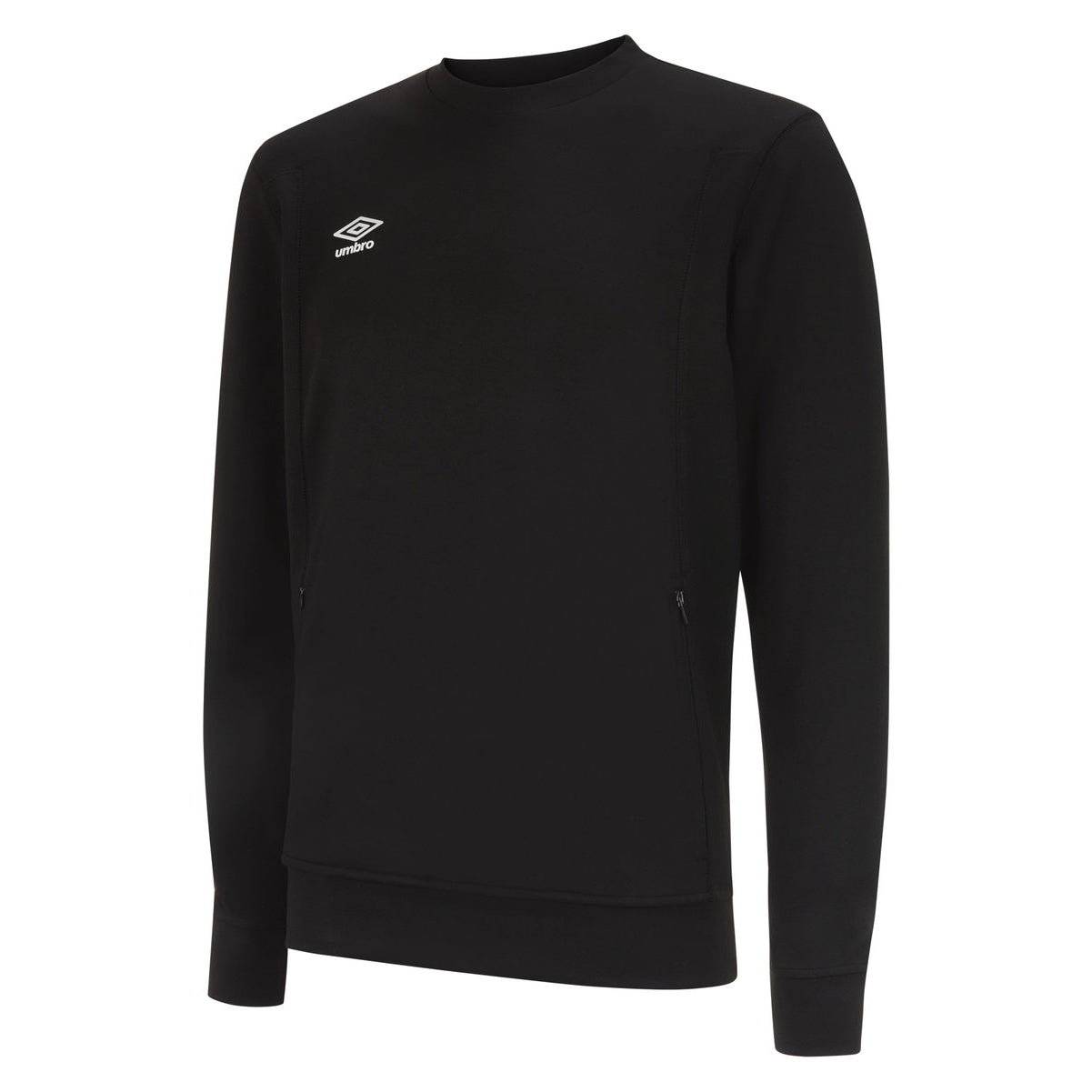 Umbro Pro Fleece Sweat in black with white logo