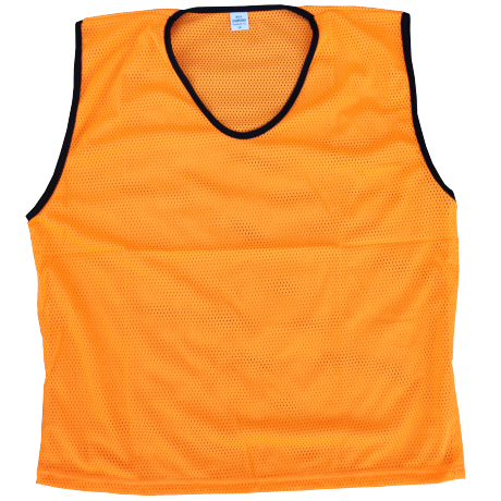 Diamond Mesh Bib in orange