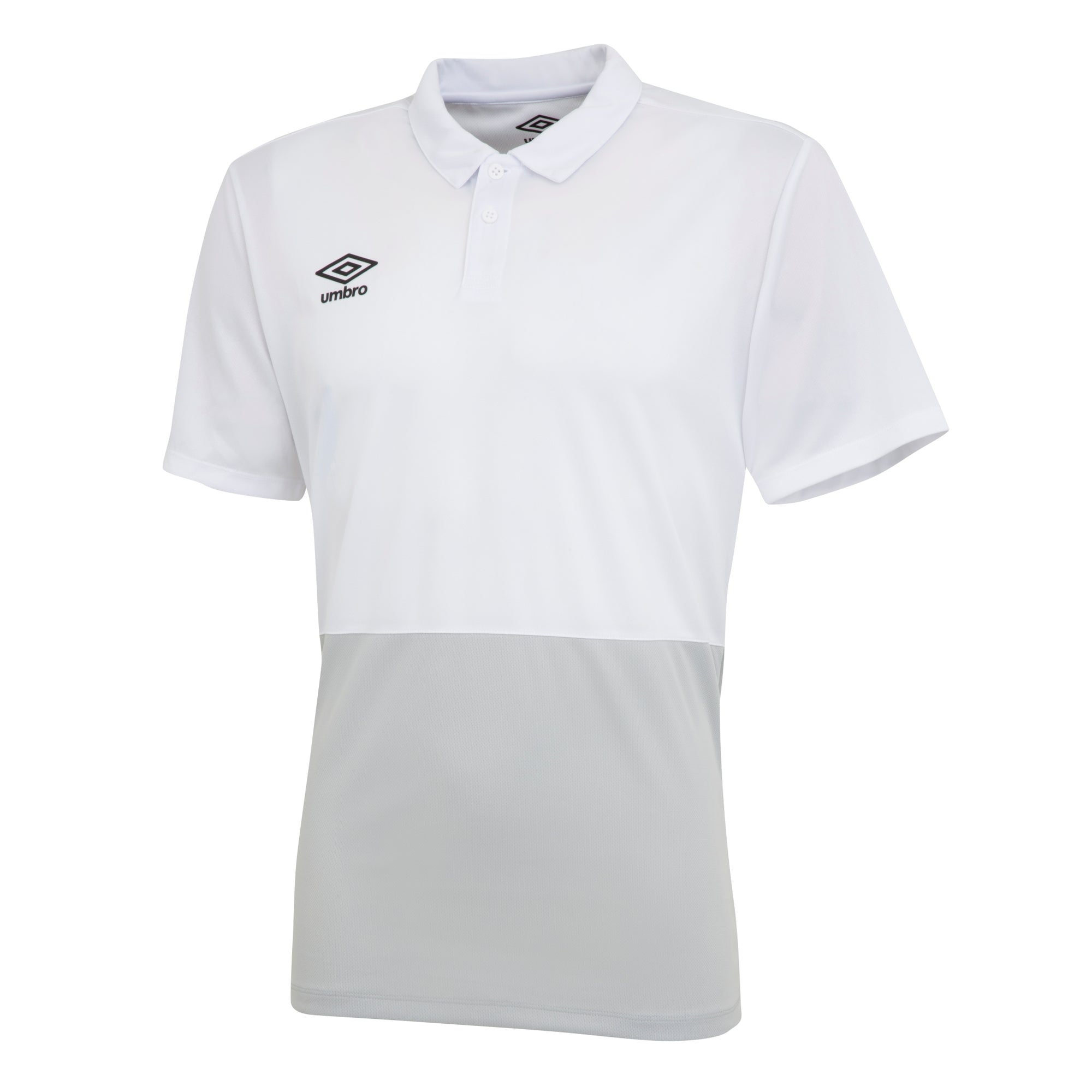 Umbro Poly Polo - White/High Rise/Carbon