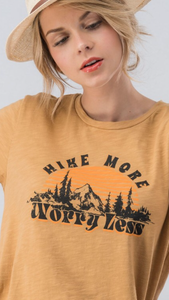 Hike More Worry Less Cotton Slub Tee