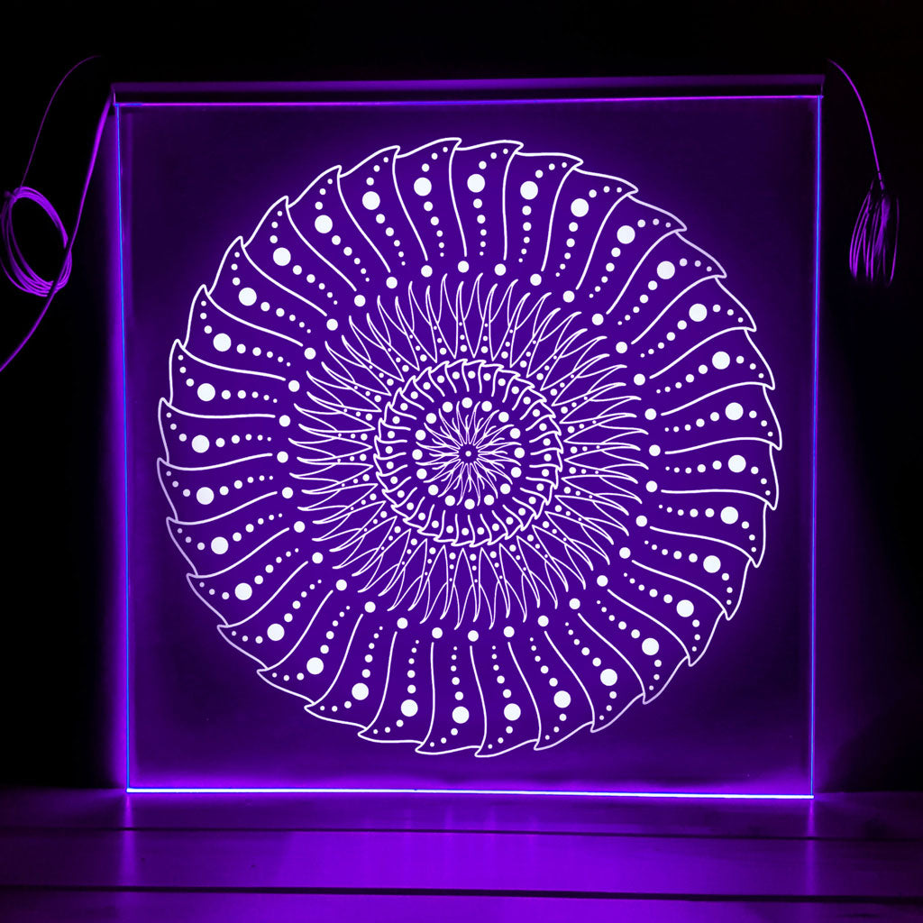 Still Vibration - Edge-lit Mandala