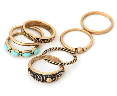 7 Piece Tibetan Knuckle Ring Set