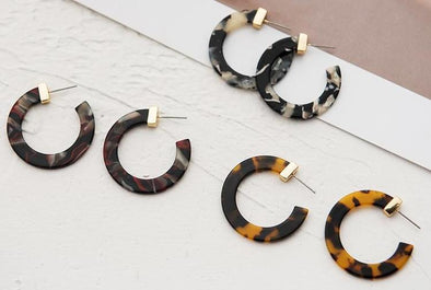 Multi-Color Small Round Hoop Earrings