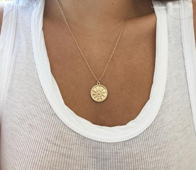 Gold Sun Pendant Necklace - FREE - Just Cover Shipping and Handling