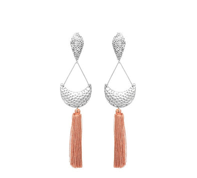Big Fringed Tassel Earrings