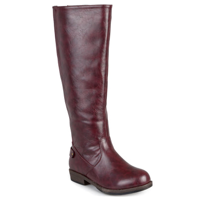 Brinley Co. Womens Regular and Wide-Calf Knee-High Stretch Riding Boot
