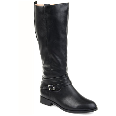 Comfort by Brinley Co. Womens Wide Calf Strap Riding Boot