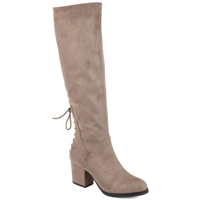 Brinley Co. Womens Wide Calf Knee-high Heeled Boot