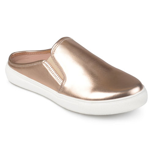 Brinley Co. Womens Wells Faux Leather Round Toe Casual Sneaker Mules