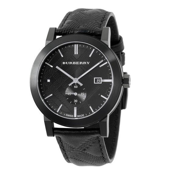 Burberry BU9906 The City Black Dial Leather Strap Watch