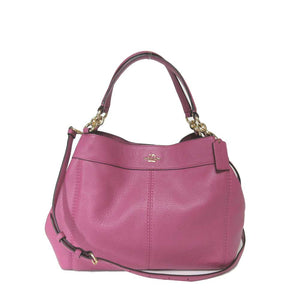 Coach F23537 IMROU Lexy Rouge Pebbled Small Leather Shoulder Bag