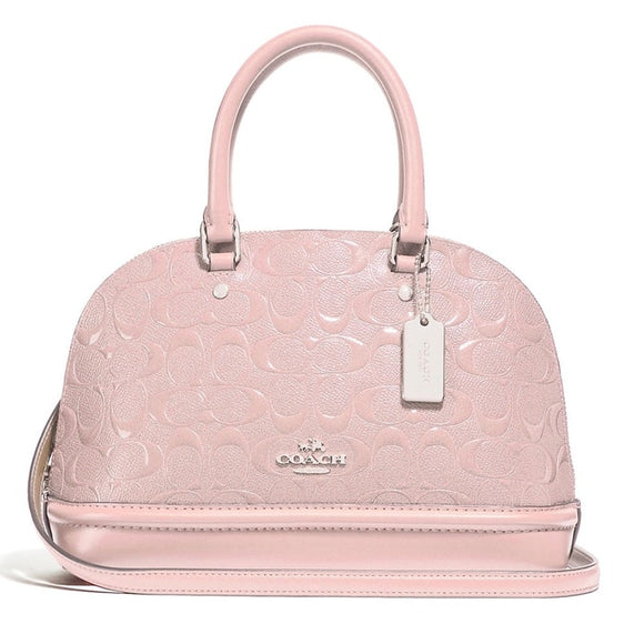 Coach F27597 SVEZM Mini Sierra Light Pink Signature Satchel Leather Purse