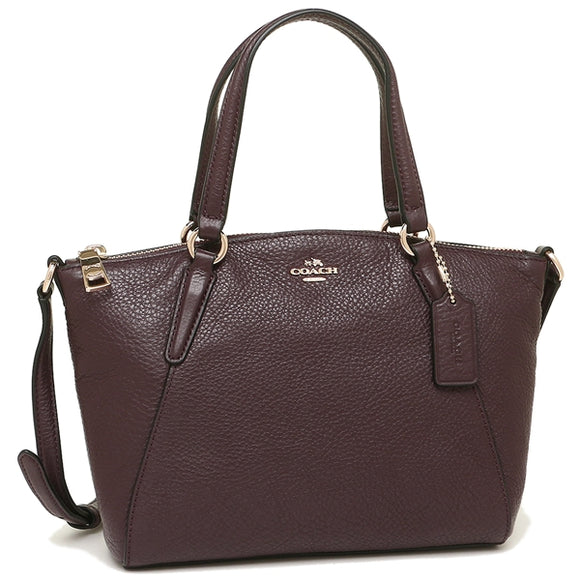 Coach F57563 IML7C Mini Kelsey OxBlood Pebble Leather Satchel Handbag NEW