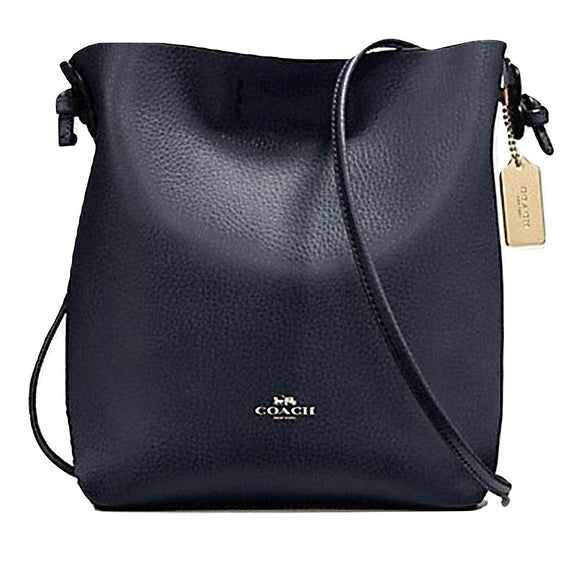 Coach F58661 IMLLU Derby Crossbody Midnight Lapis Leather Handbag