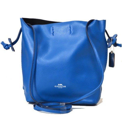 Coach F58661 SVC89 Derby Crossbody Blue Bright Mineral Leather Handbag