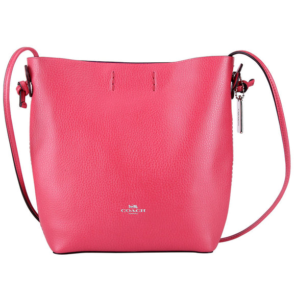 Coach F58661 SVLLT Derby Crossbody Strawberry Bright Red Leather Handbag