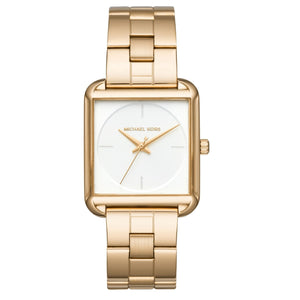 Michael Kors MK3644 Lake Gold Squared White Dial Stainless Steel