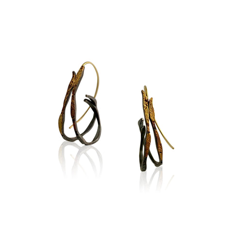 Dahlia Hoops - Gold Post Earrings