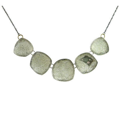 5-pc Ombre necklace with diamonds