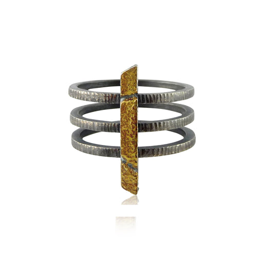 23k Gold Cage Ring - Lireille