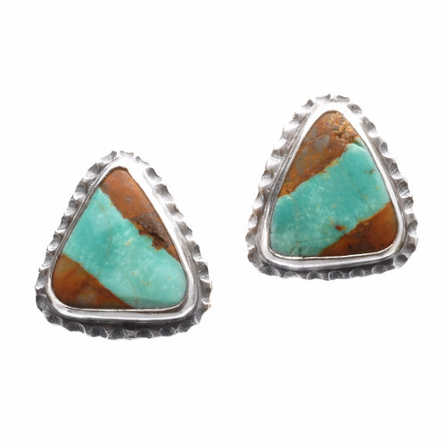 Triangle Textured Post Earrings