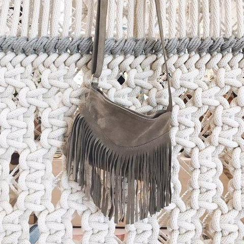 Fringe Italian Suede Boho Bag by Amber Seagraves
