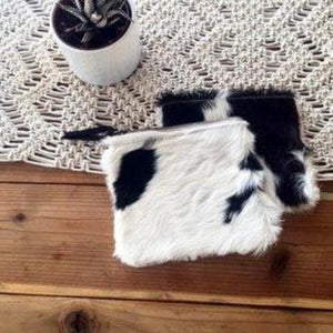 Cowhide Zip Pouch by Amber Seagraves
