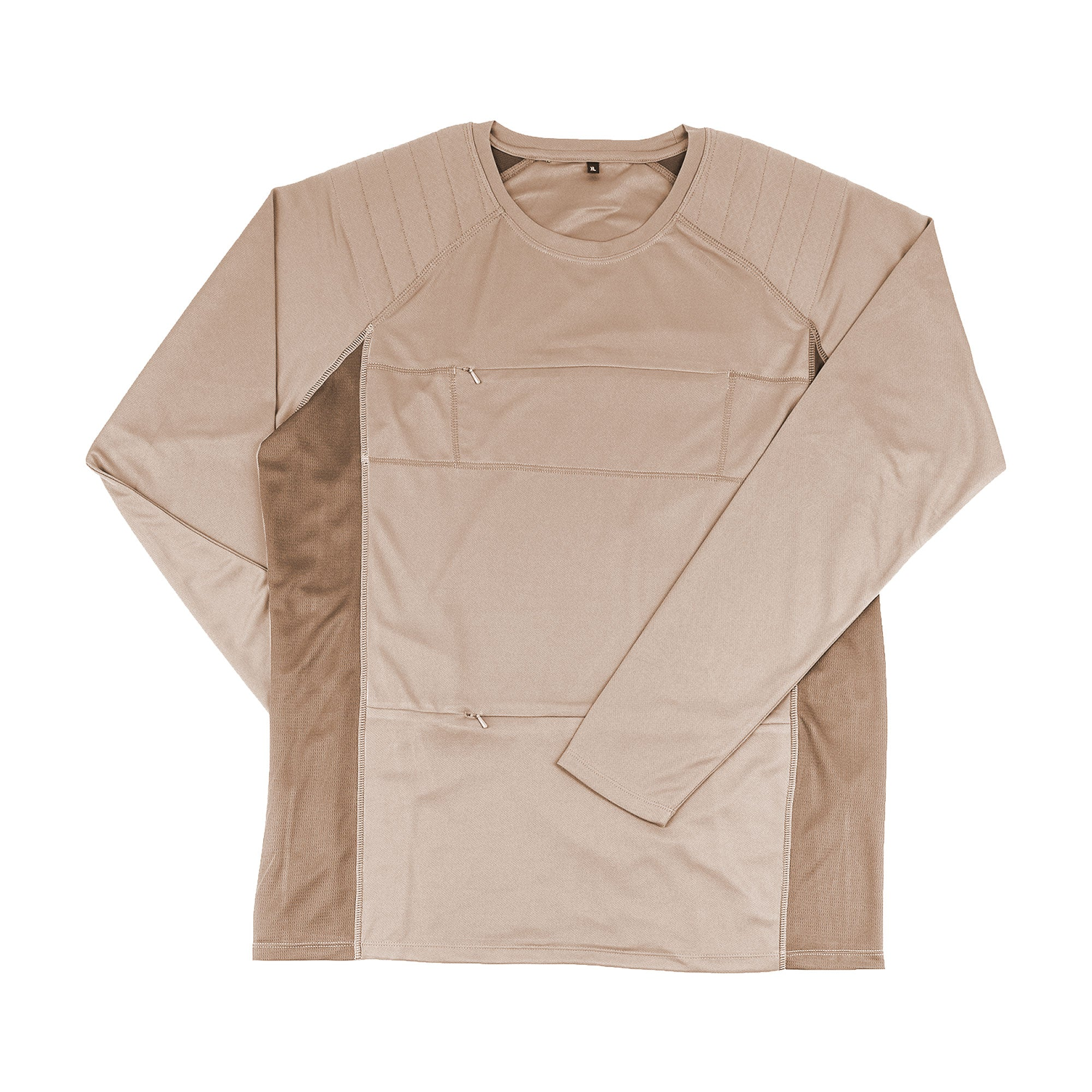 The Peregrine Long Sleeved Tee (sand). A great birdwatching t-shirt.