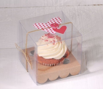 Single Clear Cupcake Box with insert