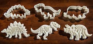Fred & Friends DIG-INS Dinosaur Fossil Cookie Cutter/Stampers, Set of 3