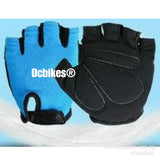 Simple Plain MTB Road Half Finger Protective Gloves