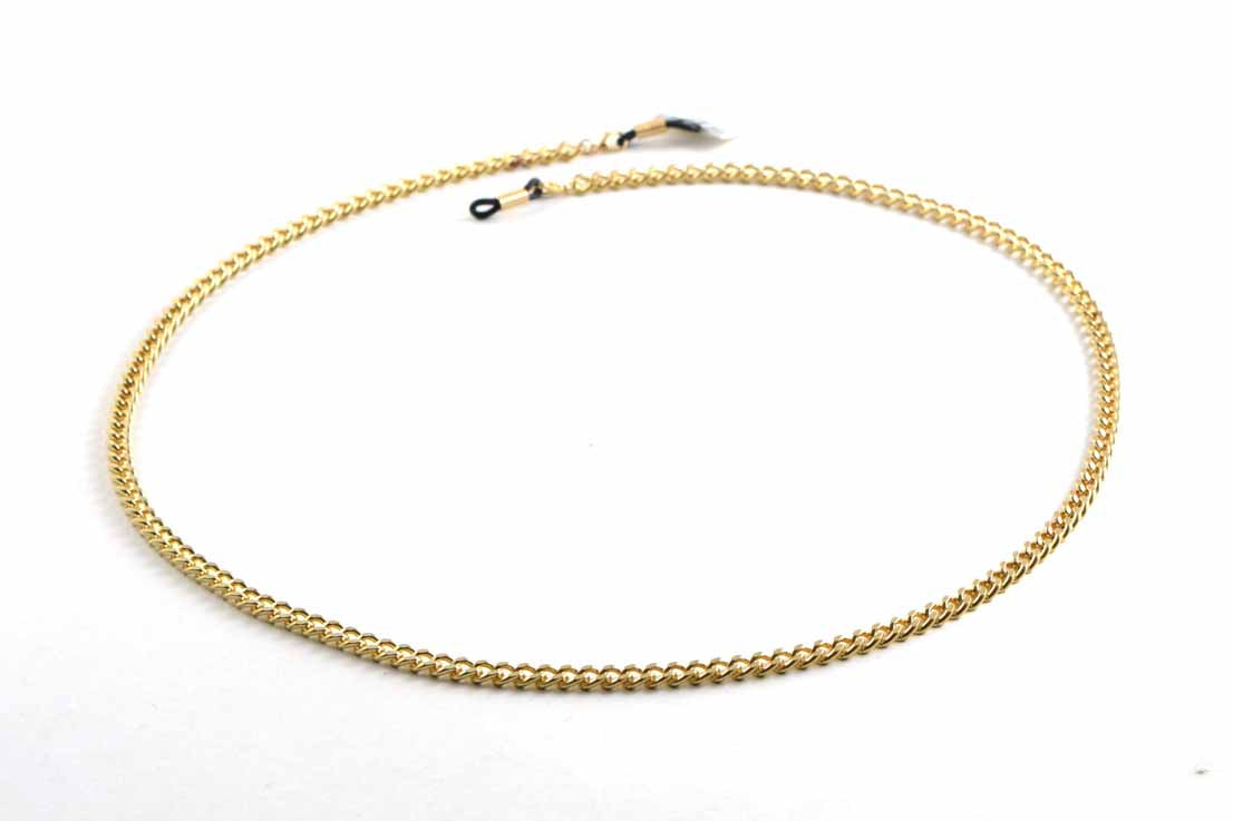 Warnini goudkleurige metalen brilketting