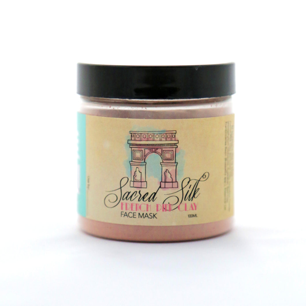 Sacred Silk French Pink Clay Face Mask (3.4 oz./100 mL)