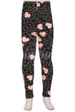 Pink Hearts, Kids Leggings - Nimbus Apparel Co., leggings, tights, girls clothing, Korean, plus size, one size, colorful, comfortable, cute, unique, fun, adorable