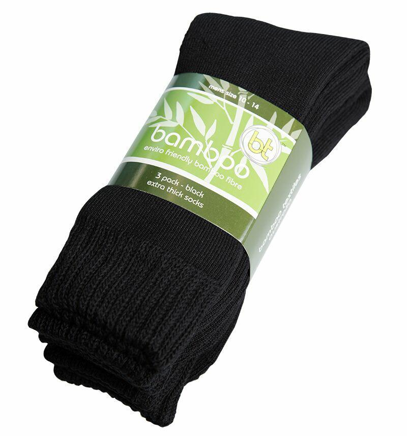Bamboo Textiles Extra Thick Sock 3 PKT, Bamboo Textiles Extra Thick Sock 3 PKT