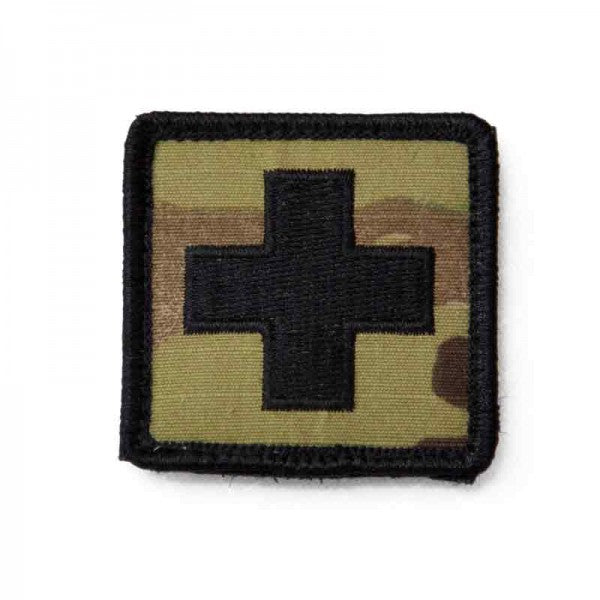 medics multi cam patch with black cross