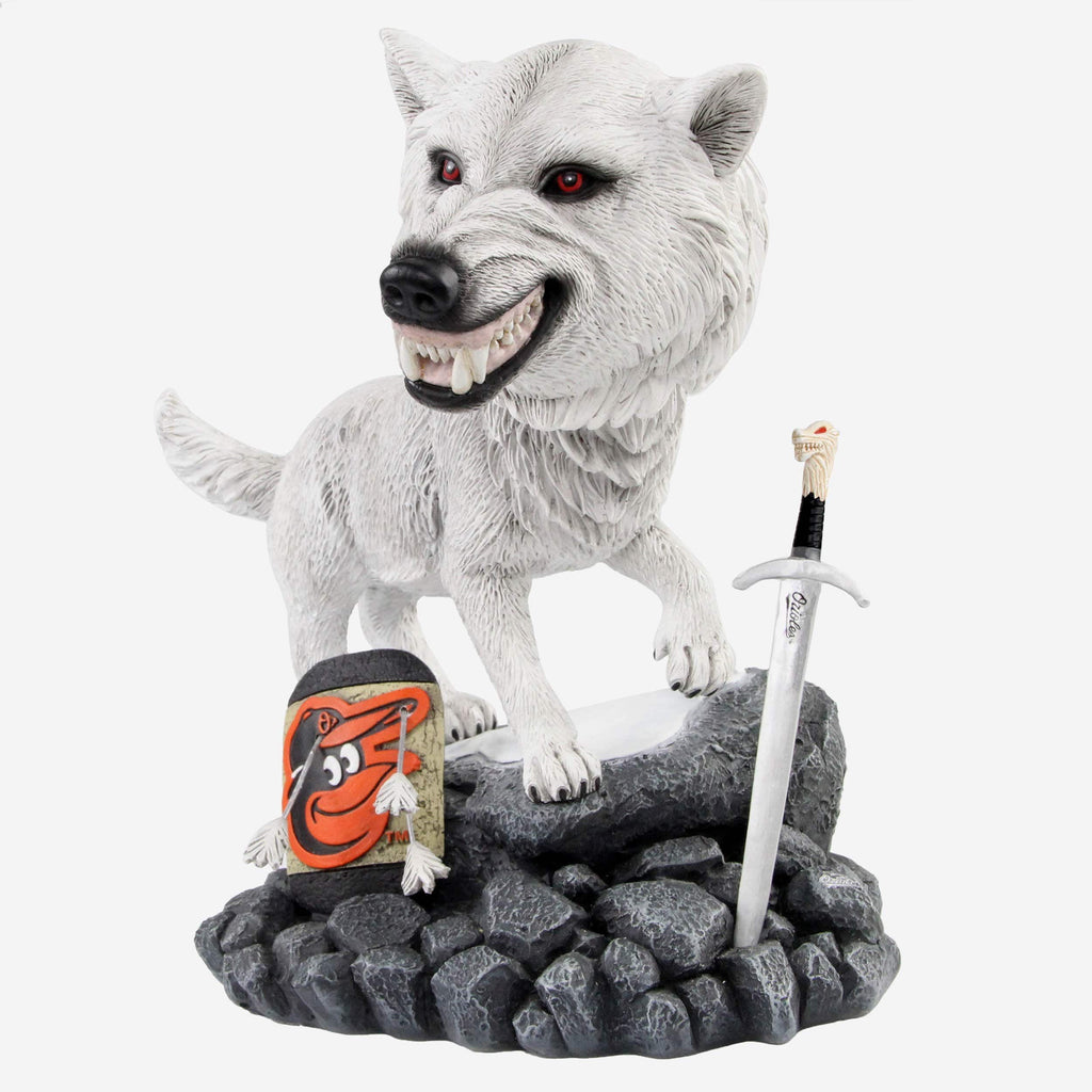Baltimore Orioles Game Of Thrones Direwolf Bobblehead FOCO - FOCO.com